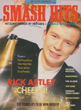 Smash Hits, October 21, 1987 – p.01 Rick Astley cover