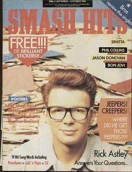 1988-09-21 Smash Hits cover Rick Astley