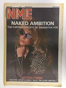 1986-04-12 NME 1 cover Samantha Fox