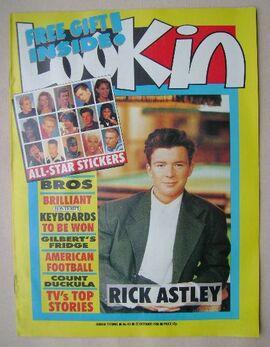 1988-10-22 Look-In cover Rick Astley