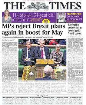 2019-04-02 The Times 1 cover