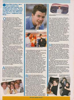 1987-09-09 Smash Hits Rick Astley feature 2 p.23