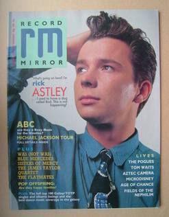 1987-12-05 Record Mirror cover Rick Astley