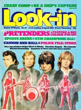 1980-04-12 Look-In 1 cover Pretenders