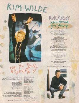 1987-08-26 Smash Hits 2 Rick Astley Never Gonna lyrics