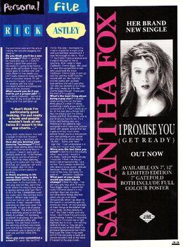 1987-10-07 Smash Hits 33 Rick Astley