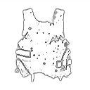 Поврежденный бронежилет
