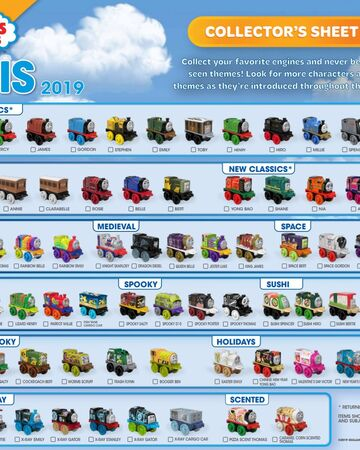 Brand New Lot of 48 Thomas The Train /& Friends Minis Blind Bag 2019 Series 4