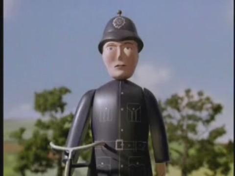 El policia del ferrocarril del Norte