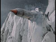 TB1 landing in mountain