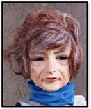 Lady with blue polo neck