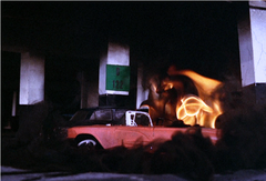 Car catches fire (city of fire)