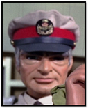 Man in grey uniform