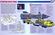 Martian space probe cutaway