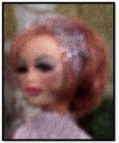 Landy in lilac dress