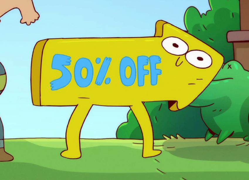 Anthropomorphic Sale Sign