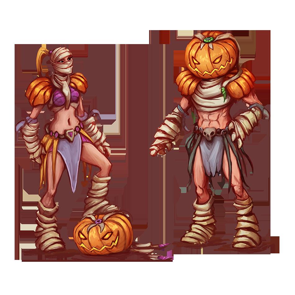 Pumpkin Mummy Outfits