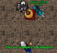 Vampire Silk Slippers