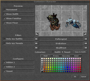 WU20 Customize Character Dialog