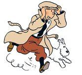 Tintin with Snowy