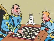 Chess game of Alcazar and Tintin