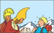 Tintin in Tibet - Tintin meets people