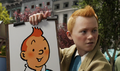 Tintin with a paiting