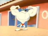 Arnold flexin