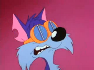 Furrball wearing his goggles