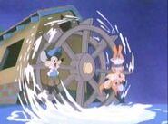 Gristmill water wheel