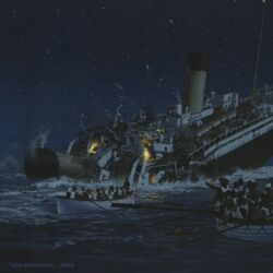 Break-up of the Titanic