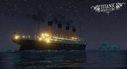 Titanic Honor & Glory Titanic heading towards the iceberg