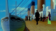 The Boat deck in The Legend Of The Titanic (1999)