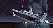 Titanic breaking