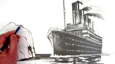How to Draw the Titanic Pencil Drawing
