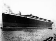 Titanic launched at Belfast
