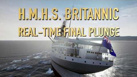 Death of the HMHS Britannic - REAL-TIME FINAL PLUNGE