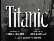 TITANIC (Theatrical Trailer 1953)