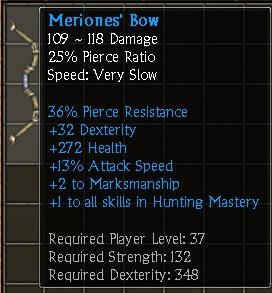 Meriones' Bow