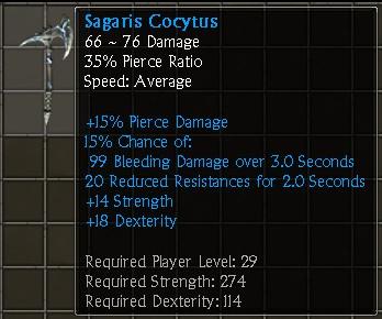 Sagaris Cocytus