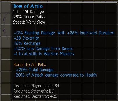 Bow of Artio