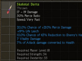 Skeletal Darts
