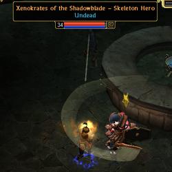 Xenokrates of the Shadowblade - Skeleton Hero