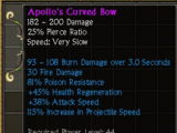 Apollo's Curved Bow