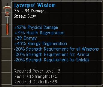 Lycergus' Wisdom