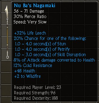 Nu Ba's Nagamaki