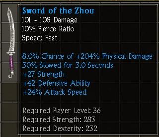 Sword of the Zhou