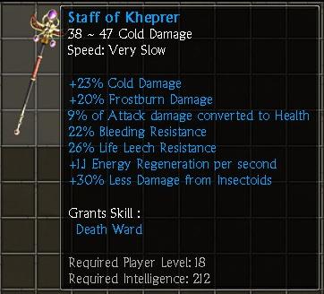 Staff of Kheprer