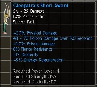 Cleopatra's Short Sword