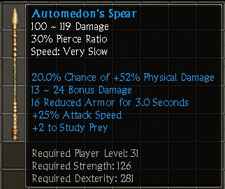 Automedon's Spear